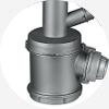 大排渣口设计,卡扣式可旋转多角度防臭排 渣杯 , 卫生便捷健康