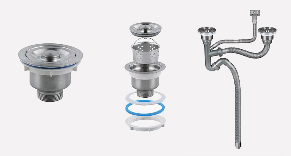 50吹塑管双盆水槽下水产品展示