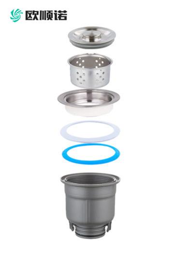006半钢内胆全塑套杯下水器
