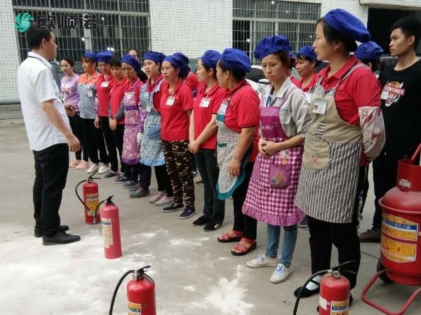 中山下水厂欧顺诺的消防演习