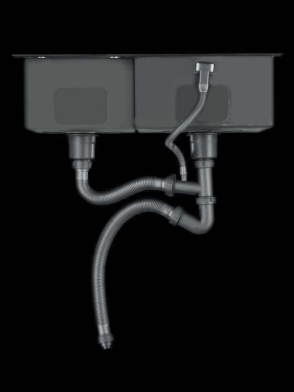 50吹塑管双盆水槽下水