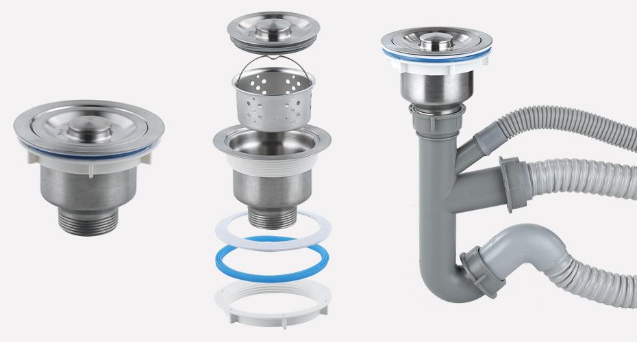 40管V型双盆水槽下水产品展示